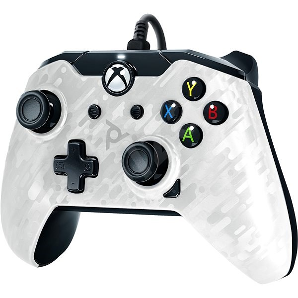 PDP Wired Controller - Xbox One - White Camo - Gamepad