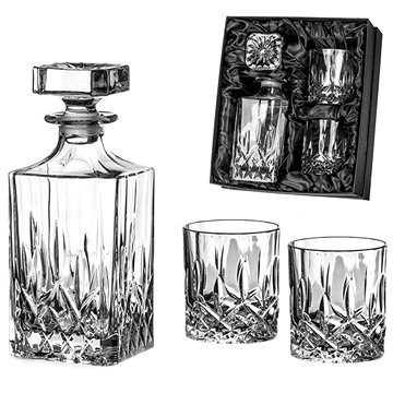 Diamante Whiskey Set Dorchester in Satin Package 1 + 2 - Whisky Set