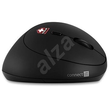 CONNECT IT Vertical Ergonomic Wireless FOR HEALTH LADIES, Black - Mouse