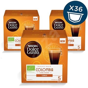 NESCAFÉ Dolce Gusto Colombia Sierra Nevada Lungo, 3-Pack - Coffee Capsules