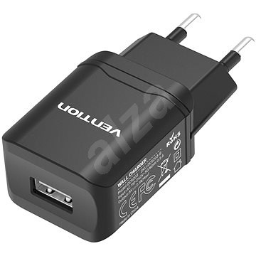 Vention Smart USB Wall Charger 10.5W Black - AC Adapter